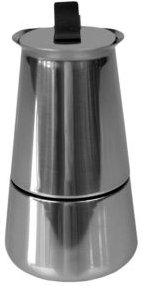 2 Cup Demitasse Shot Stainless Steel Stovetop Espresso Maker, Silver