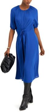 Tie-Front Midi Dress, Created for Macy's