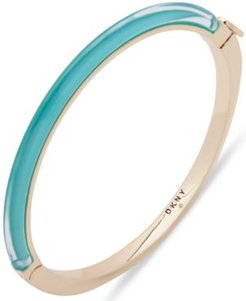 Gold-Tone & Colored Inlay Bangle Bracelet
