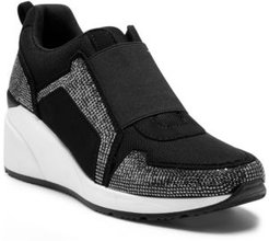 Inc Women's Heily Stretch Wedge Sneakers, Created for Macy's Women's Shoes