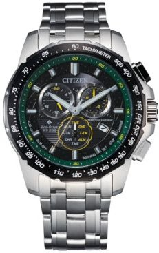 Eco-Drive Men's Chronograph Promaster Land Stainless Steel Bracelet Watch 43mm