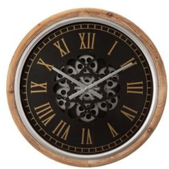 """20.47""""D Vintage Industral Metal Wall Clock with Moving Gears"""
