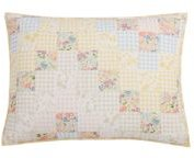 Checker Floral King Sham, Created for Macy's