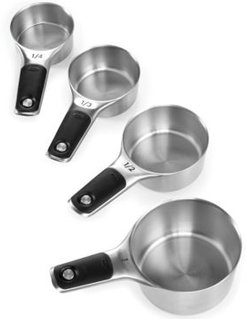Good Grips Set of 4 Stainless Steel Magnetic Measuring Cups