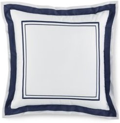 "Embroidered Frame 16"" Square Decorative Pillow, Created for Macy's Bedding"