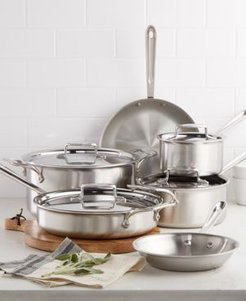 D5 Brushed Stainless Steel 10-Pc. Cookware Set