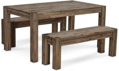 """Canyon Small 3-Pc. Dining Set, (60"""" Dining Table & 2 Benches), Created for Macy's"""