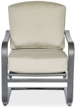 Marlough Wide Slat C-Spring Chair, with Sunbrella Cushions, Created for Macy's