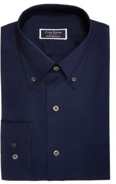 Classic/Regular Fit Performance Stretch Pinpoint Solid Dress Shirt, Created for Macy's