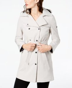 Petite Double Breasted Belted Trench Coat, Created for Macy's