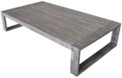 Driftwood Teak Modern North Shore Outdoor Coffee Table