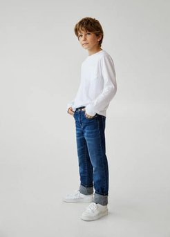 Printed lining comfy jeans medium blue - 8 - Kids