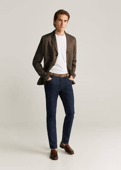 100% linen slim fit blazer