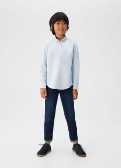 Cotton Oxford shirt blue - 11-12 years - Kids