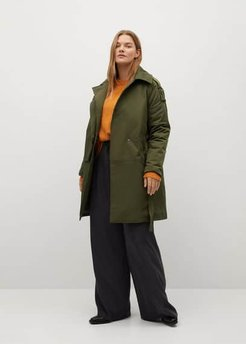 Parka with camp-collar  green - 3XL - Plus sizes
