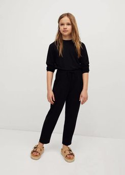 Knitted long jumpsuit black - 13-14 years - Kids