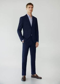 Super slim fit microstructure suit blazer