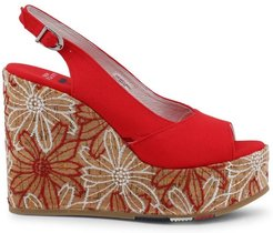 U.s. Polo Assn., Goldy4072S9 Wedges Rosso, Donna, Taglia: 39