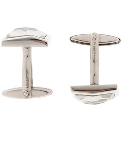 Silver cuff links with stone Lanvin