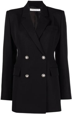 Alessandra Rich, Wool Double Breasted Jacket Nero, Donna, Taglia: 42 IT