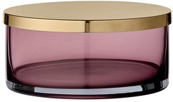 Tota Jar with Lid - Rose & Brass