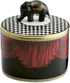 1735 - Totem Elephant Cylindrical Box with Lid