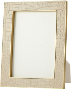 """Classic Croc Leather Photo Frame - Fawn - 5x7"""""""