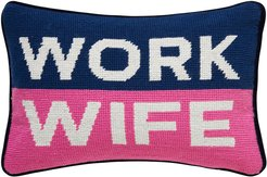 UK Needlepoint Personality Pillow - Work Wife