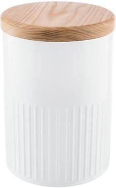 White Steel Storage Canister - 26cm