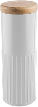 White Steel Storage Canister - 32cm