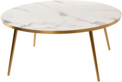 Marble Look Coffee Table - White