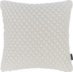 Textured Knitted Pillow - 50x50cm - Ivory