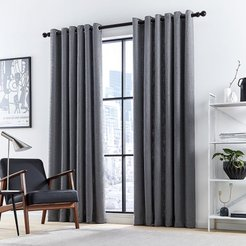 Madison Lined Curtains - Charcoal - 167x228cm