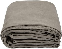 Luna Linen Duvet Cover - Charcoal - Super King