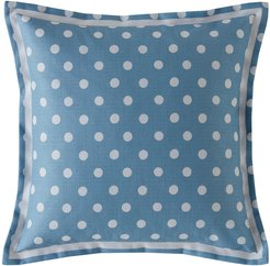 Button Spot Pillow - 40x40 - Blue