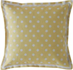 Button Spot Pillow - 40x40 - Yellow