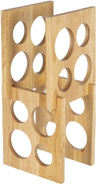 Cutout Tower Wooden Wine Rack