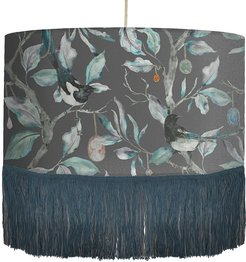 Collector Ceiling Pendant with Fringing - Onyx
