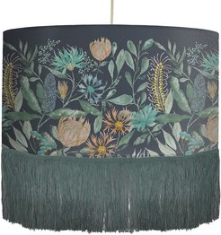 Fortazela Ceiling Pendant with Fringing - Sapphire