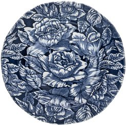 Ink Blue Hibiscus Plate - 19cm