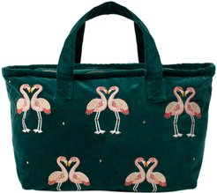 Flamingo Velvet Weekender Bag