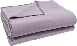 1828 - Soft Fleece Blanket - Pale Lavender