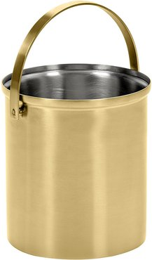 Brushed Steel Gold Ice Bucket - Small