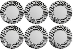 Zebra Dinner Plate - Set of 6