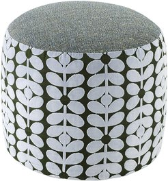 Sixties Stem Conway Pouf - Powder Blue/Teal - Small