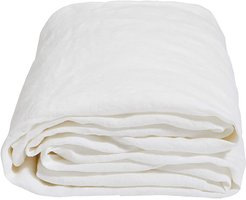 Luna Linen Duvet Cover - White - Super King