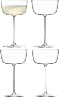 Borough Cocktail Saucer - Set of 4 - Clear