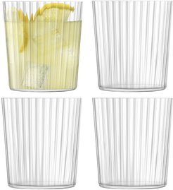 Gio Line Tumbler - Set of 4 - Clear - 390ml