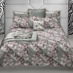 Divine Orchid Bed Set - Gray - King