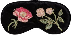 British Blooms Velvet Eye Mask - Black